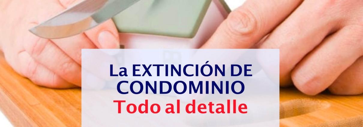 extincion de condominio