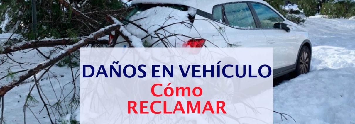 reclamar daños en el vehiculo por filomena